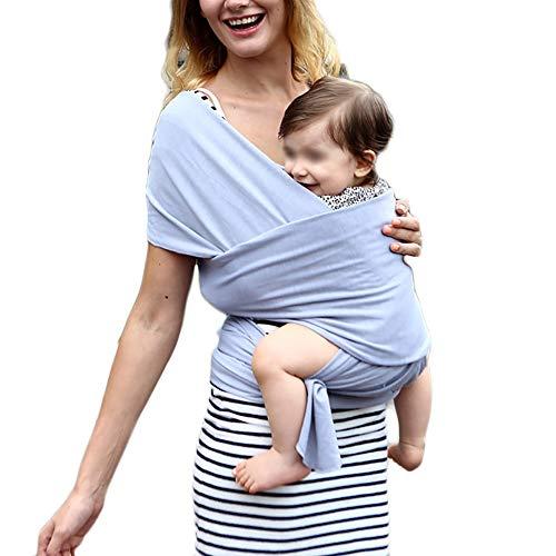 G&F Baby Sling Babywickelträger Bis Zu 20 Kg Zum Neugeborenes Kleinkinder Einheitsgröße 95% Baumwolle (Color : Gray)