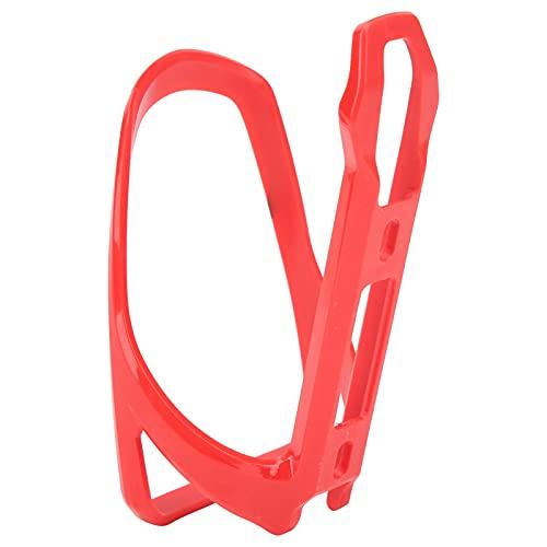 01 Portaborraccia per Bicicletta, portaborraccia in plastica per Bicicletta Leggero Resistente all'Usura per Bici per Bicicletta(Rosso)