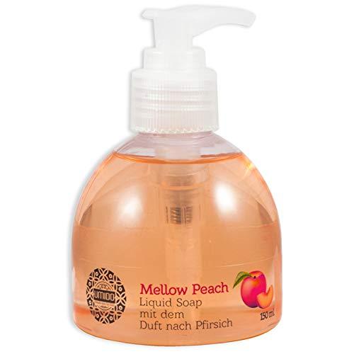 20x UMIDO Flüssigseife Spender 150 ml Pfirsich | Handseife für Pflege & Hygiene | Händewaschen | Seife aus dem Pumpspender | Pflegeseife | Körperpflege