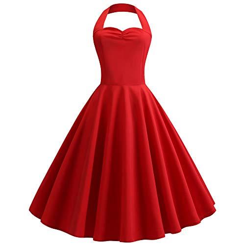 KPH 2020 schwarzes Kleid mit hängendem Hals, mittellanger Taille, großer Swingrock, Ballkleid, Kleiner schwarzer Rock
