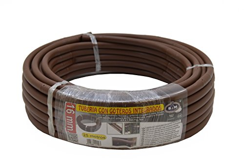 S&M 544293 Flexibele tuinslang met geïntegreerde druppels, 16 mm, 0,33 m x 25 m, bruin, 40.00x40.00x10.00 cm
