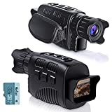 KINKA Night Vision Monocular Goggles, Travel Infrared Digital Monocular for 100% Darkness, Day and Night Vision for Adults, HD Photo & Video with 32GB Card, for Hunting Gear, Surveillance, Spy
