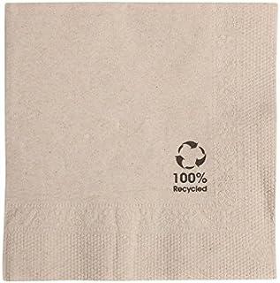 BIOZOYG Bio Serviettes écologiques en Papier recyclé I Serviettes en Papier de Haute qualité 20 x 20 cm I 100 pièces à Coc...