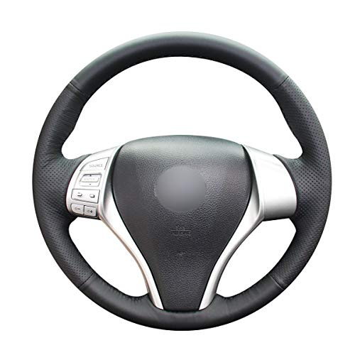 Shining wheat Funda para volante de coche de piel negra para Nissan Teana Altima 2013-2018 X-Trail Q