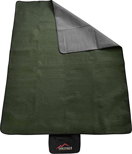 normani Outdoor Campingdecke Fleece mit Tragegriff wasserdicht isoliert Farbe Olive