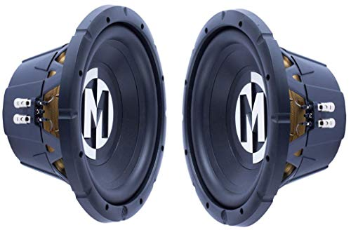 Pair of Memphis 15-SRX12D4 12' 500W RMS Dual 4-Ohm Street Reference Subwoofer