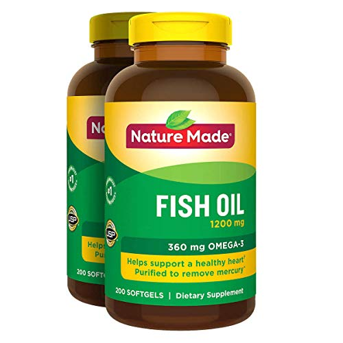 2 x 200Pk Nature Made Fish Oil 1200 mg Softgels Omega 3