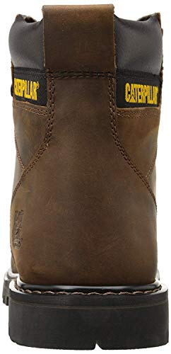 Caterpillar mens Second Shift Steel Toe Work industrial and construction boots, Dark Brown, 10.5 US