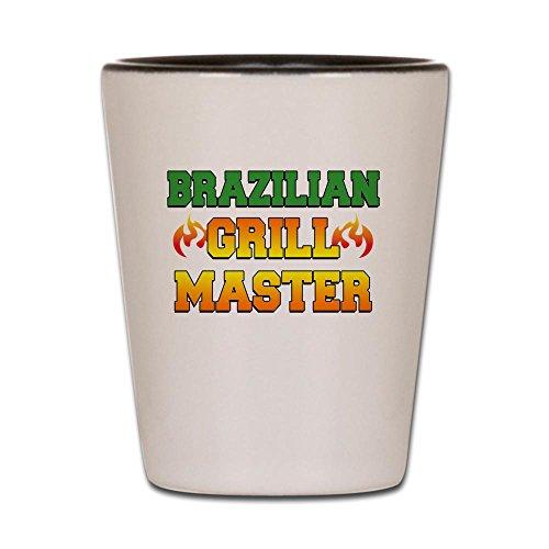 CafePress Brazilian Grill Master Schürze Schnapsglas dunkel weiß/schwarz