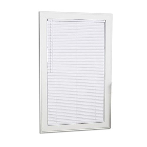 Project Source 1-in Cordless White Mini-Blinds (Common: 30-in; Actual: 29.5-in x 64-in)