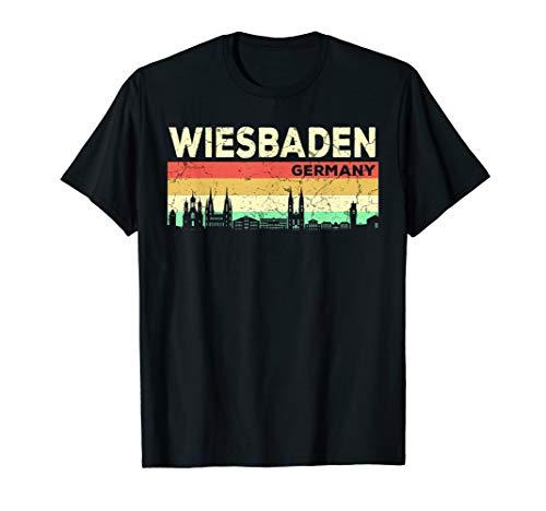 Mein Wiesbaden Skyline Deutschland Heimat Stadt Souvenir T-Shirt
