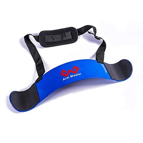 W WAISFIT Arm Blaster Bicep Curl Thick Aluminum Adjustable Bodybuilding Bicep Isolator Blue