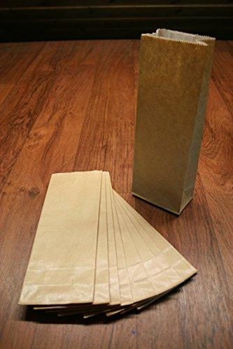das-label |Geschenktüten| selbst Befüllen | 25mehrlagige braune Kraftpapiertüten |für Adventskalener |Keks- und Pralinenverpackung | Lebensmittelecht