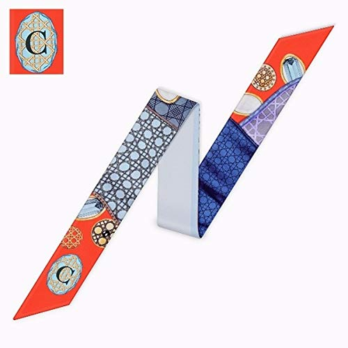 Jsansui dames sjaal letter tarot kleine sjaal voor dames, breedte: 6,2 cm, kleur: C