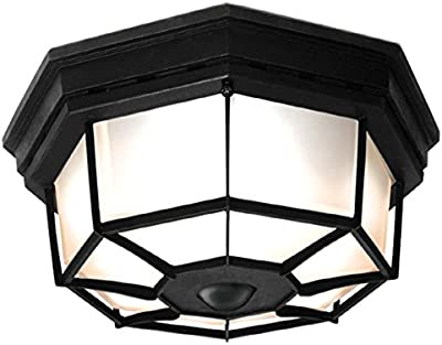 Tehenoo Industrial Ceiling Light Fixture With Cognac Glass Shade