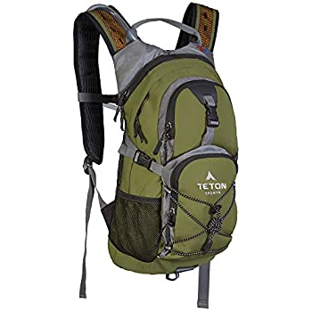 TETON Sports Oasis 1100 Hydration Pack  Free 2-Liter Hydration Bladder  For Backpacking Hiking Running Cycling and Climbing  Green