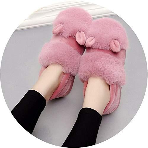 Desconocido Zapatillas de Algodón de Invierno para Mujer, Envueltas con Ropa Interior...