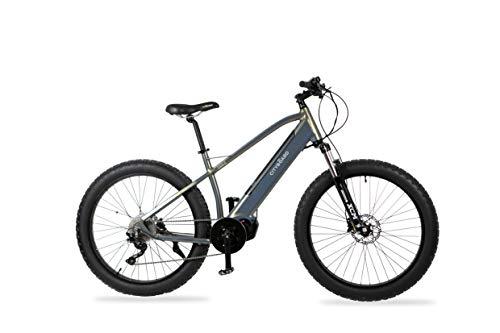 """Cityboard GT2 Bicicleta Eléctrica Montaña Motor Central 26"""", Adultos Unisex, Negro"""