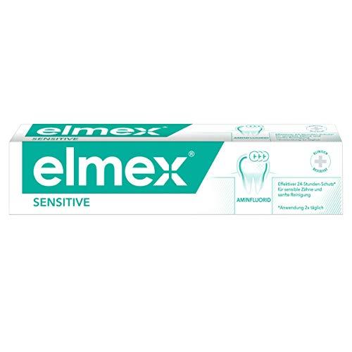 elmex Zahnpasta sensitive, 1 x 75 ml - Zahncreme pflegt und schützt schmerzempfindliche Zähne