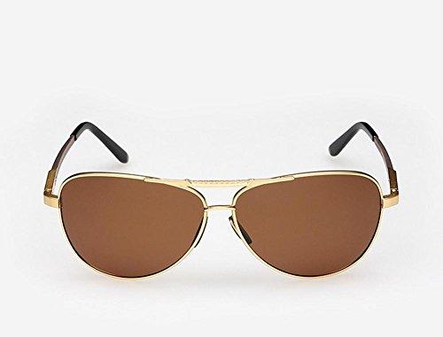 Caminante El Nuevo Aluminio Magnesio Polarizado Gafas De Sol Hombres Conducir Espejo De Color Brillante Espejo, Brown Capullos