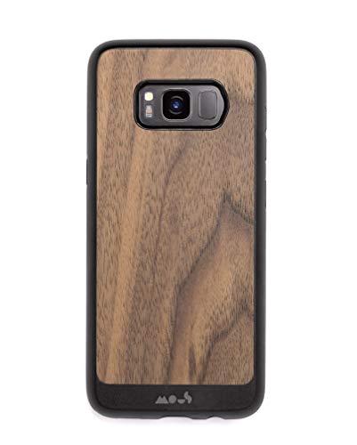 Mous - Cover Protettiva per Samsung Galaxy S8+ Plus - Limitless 2.0 - Legno di Noce - Proteggi Schermo Incluso