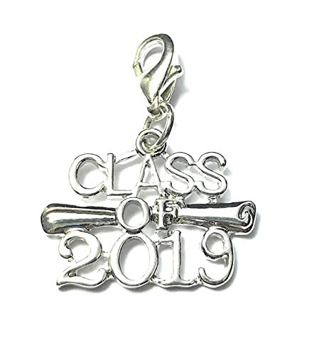 Libby's Market Place Class of 2019 Graduation Clip on Charm with Organza Gift Bag and Graduation Gift Card