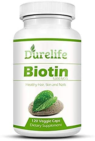 Biotin Tampa Mall Supplement 120 Count High Potency List price Durelife mcg B by 5000