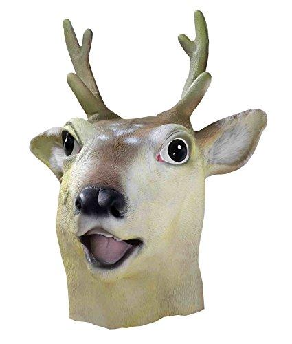 Forum Deluxe Deer Head Reindeer Latex Mask One Size
