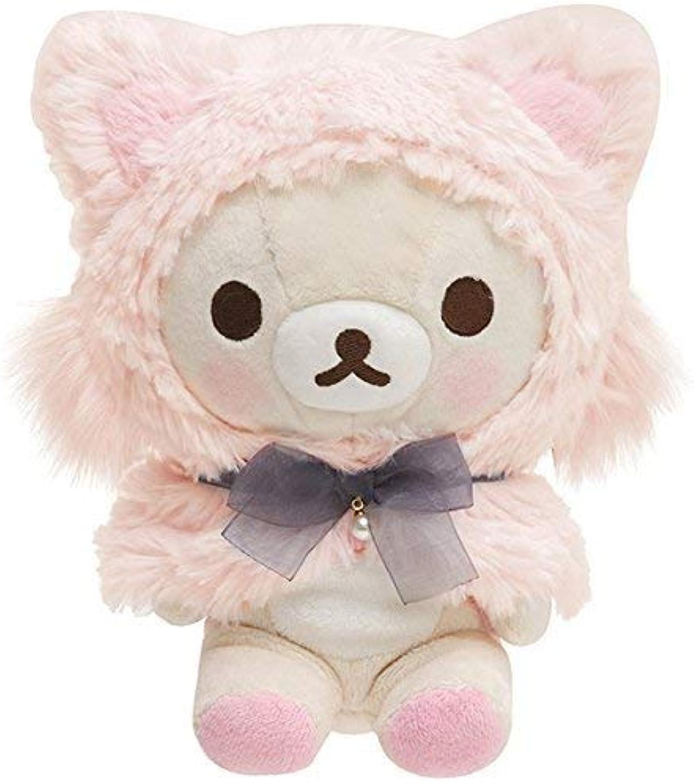 SanX Rilakkuma Stuffed toy (Pink   Korilakkuma Cat) [MX37601] (Japan Import)