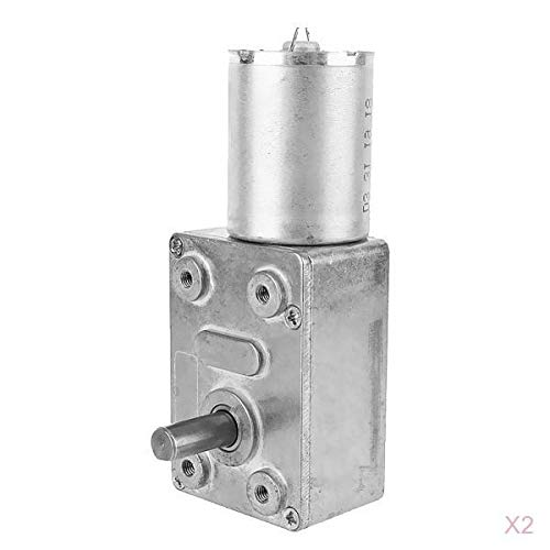 Harilla Motor de Reducción de Caja de Engranajes de Gusano Eléctrico de 2 Uds.