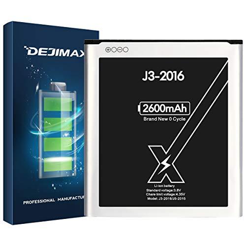 DEJIMAX 2600mAh Batería J3 para Samsung Galaxy J3 2016 / J5 2015, 2600mAh de Polímero de Litio para Galaxy J3 2016 / J5 2015