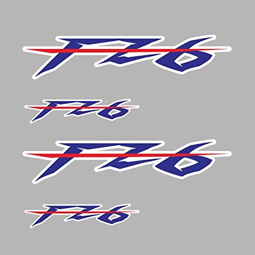 Qwjdsb para Yamaha FZ 6 FZ6,Pegatina de Motocicleta, Llantas, Rueda,Cuerpo, carenado, Casco, Almohadilla para depósito, FZ6, película de Moto