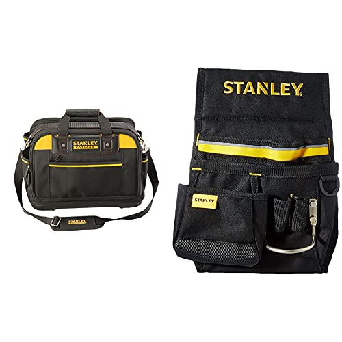 Stanley Fatmax Fmst1-73607 - Bolsa Para Herramientas De Múltiple Acceso, Estructura Rígida43 X 28 X 30 Cm+ 1-96-181 - Cinturón Portaherramientas
