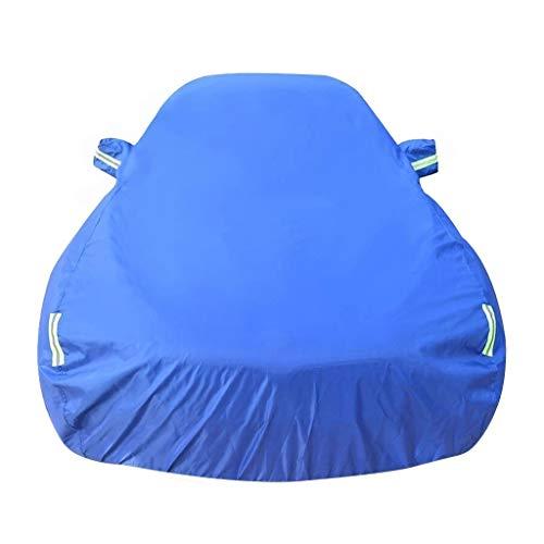Autoplanen Kompatibel mit Ford Fiesta ST wasserdichte Autoabdeckung Vollgarage Outdoor Sonnencreme Kratzfest UV Schutz Autoabdeckung (Color : Blue, Size : Single Layer)