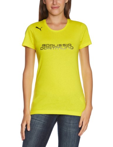 PUMA Damen BVB T Shirt Fan Tee, Blazing Yellow/black, M