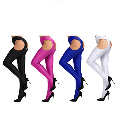 ACSUSS Women's Semi Opaque Tights Sheer Footless Pantyhose Seamless Leggings