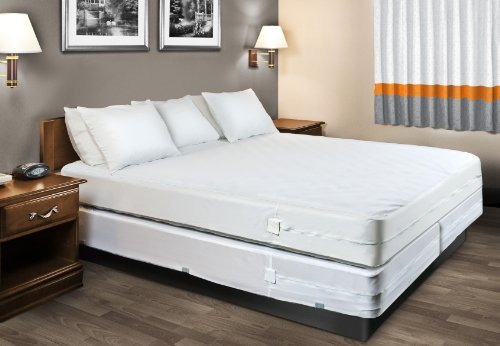 """HOSPITOLOGY PRODUCTS Sleep Defense System - Zippered Mattress Encasement - Twin - Hypoallergenic - Waterproof - Bed Bug & Dust Mite Proof - Stretchable - Standard 12"""" Depth - 38"""" W x 75"""" L"""