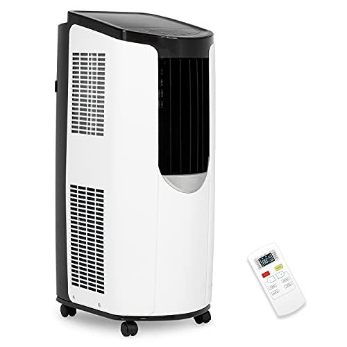 Iris Ohyama - Climatiseur mobile, 3 modes de ventilation, fonction sleep et auto-nettoyage, minuteur et télécommande 8 870 BTU/ h (2.6 kW) - Portable Air Conditionner IHP-0901G-E - L31,5xl39,5xH77 cm
