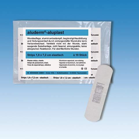 aluderm® Pflaster aluplast, elastisch, 1,9 x 7,2 cm, weiß (10 Stück), Sie erhalten 1 Packung á 10 Stück