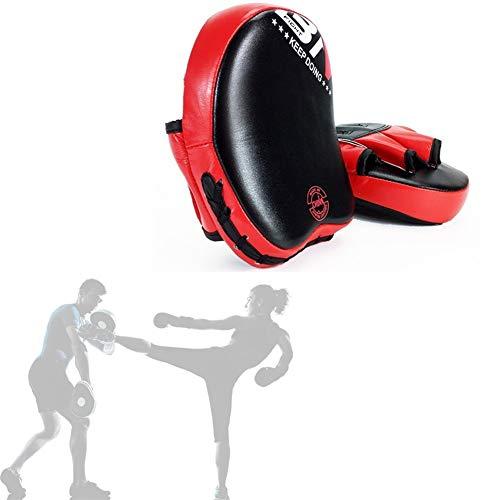 zhppac Handpratzen Boxen Sport Boxen Zubehör Boxen Ausrüstungen Ziel Mitt Handschuh Stanzen Treten Palm Pad Kampfkunst Pads Thai Pads Kick-Pads Martial Arts red,Freesize
