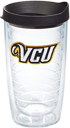 Tervis VCU Rams Logo Tumbler with Emblem and Black Lid 16oz, Clear