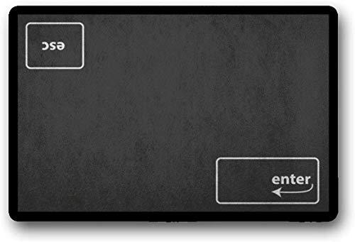 Solatman Esc Enter felpudo Geek Escape Enter teclado interior exterior bienvenida Mat 45 x 75 cm