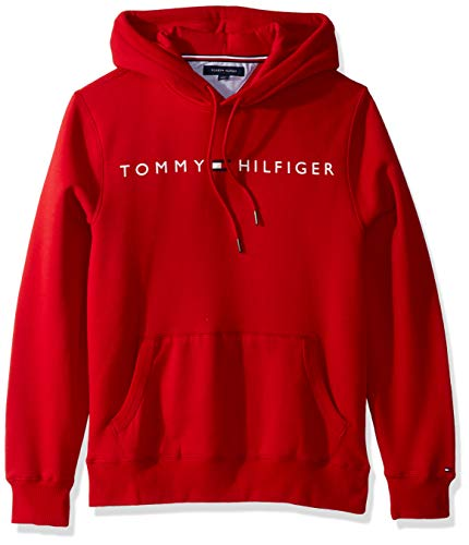 Tommy Hilfiger Men's THD Hoodie Sweatshirt, Apple Red, MD