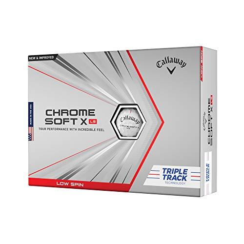 2021 Callaway Chrome Soft X LS Golf Balls (One Dozen) White Triple Track