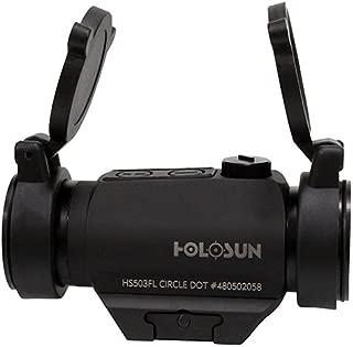HOLOSUN HS503FL, Paralow Red Dot Sight 1X, 2 MOA Dot; 65 MOA Circle, Matte Black