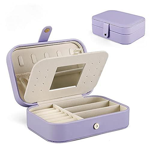 Aexle Caja de joyería portátil fácil de llevar, bolsa de almacenamiento para joyas de viaje, caja de almacenamiento a medida para pendientes