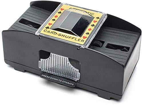 Skibo Kartenspiel,Elektrischer Kartenmischer Automatische Kartenmischmaschine Karten Mischmaschine 2 Decks Als Kartenmischgerät Batteriebetrieben