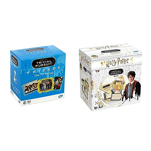 Winning Moves 27342 Friends Board Games & Harry Potter Trivial Pursuit Game- Bitesized