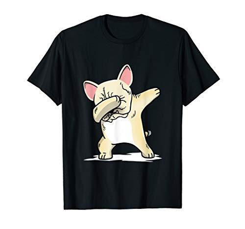 Cream French Bulldog Dabbing T-Shirt Frenchie Dog Dab Shirt