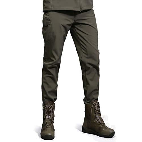 Freiesoldaten Uomo Softshell Vello Foderato Impermeabile Pantaloni Escursionismo Sciare Caldo Inverno All'aperto Pantaloni